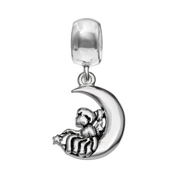 Individuality Beads Sterling Silver Crescent Moon & Girl Charm