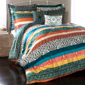 Lush Decor Boho Stripe Comforter Set