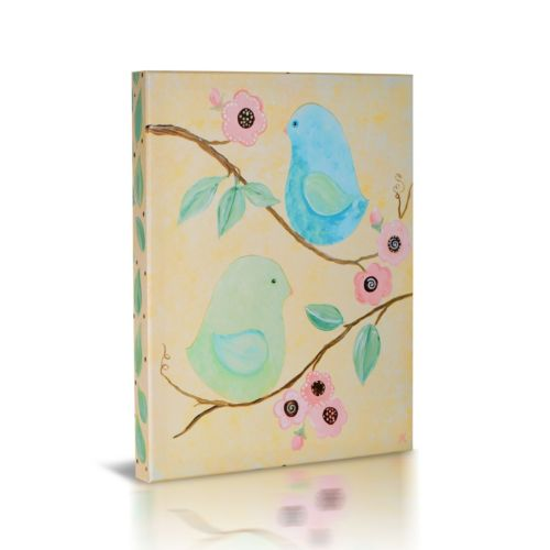 Green Frog Baby Birds & Bloom Canvas Wall Art