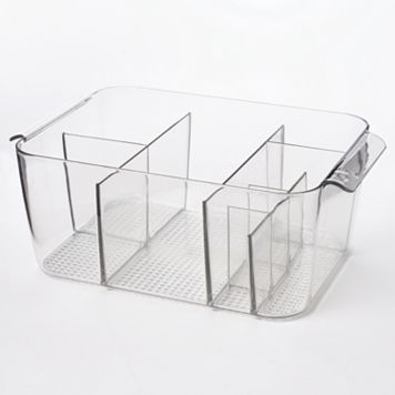 InterDesign Clarity Divided Cosmetics Bin