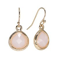 LC Lauren Conrad Faceted Teardrop Earrings