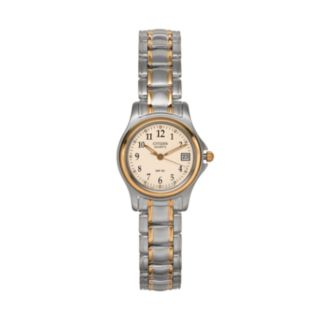 Citizen Women's Easy Reader Two Tone Stainless Steel Watch - EU1974-57A