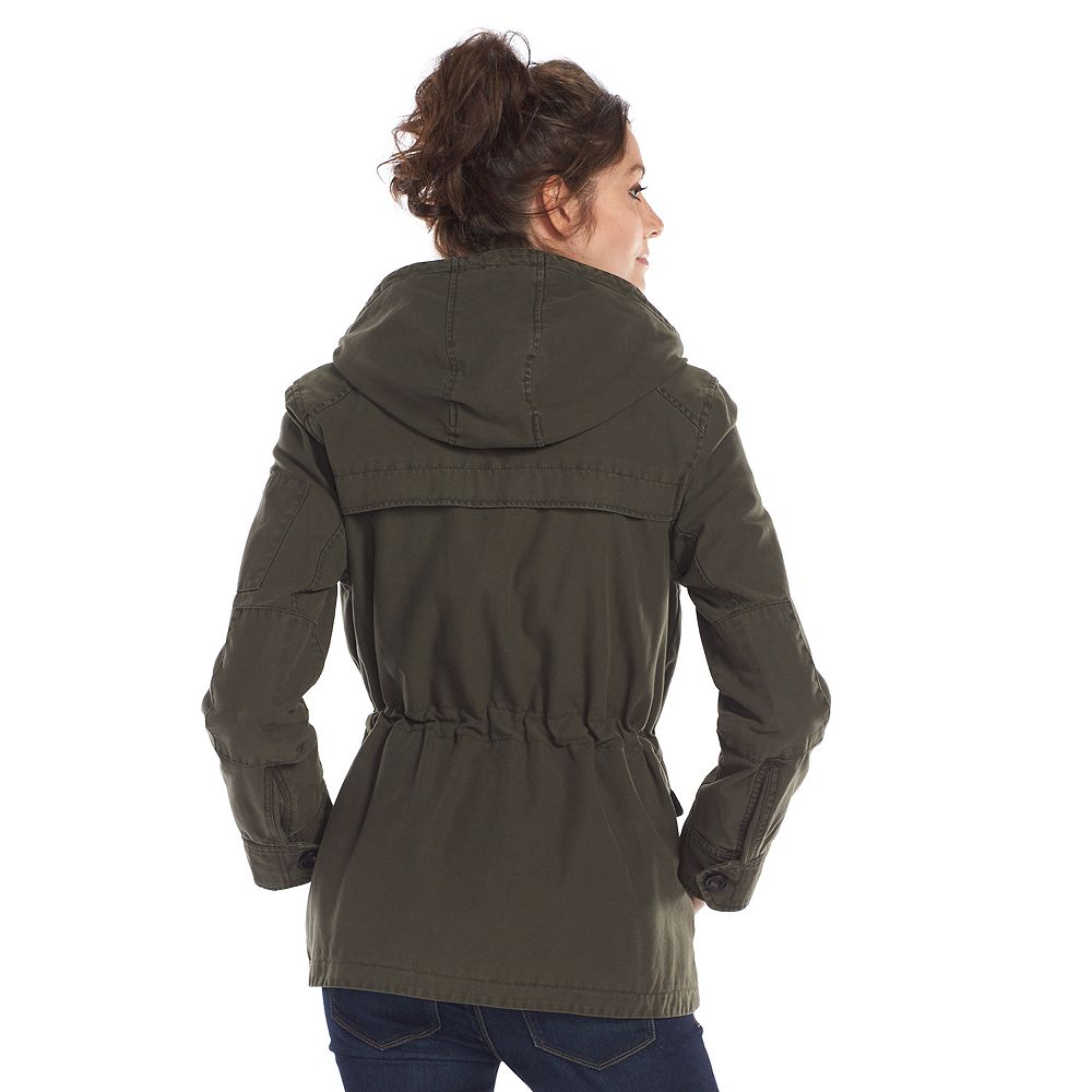 Women's Levi's Hooded Anorak Military Jacket