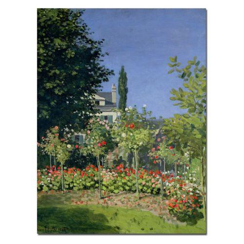 "Trademark Fine Art ""Flowering Garden at Sainte-Adresse"" Canvas Wall Art by Claude Monet"