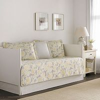 Laura Ashley Lifestyles 5 pc Reversible Joy Daybed Quilt Set