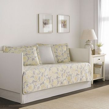 Laura Ashley Lifestyles 5-pc. Reversible Joy Daybed Quilt Set
