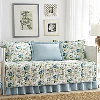 Laura Ashley Lifestyles 5-pc. Reversible Peony Garden Daybed Quilt Set