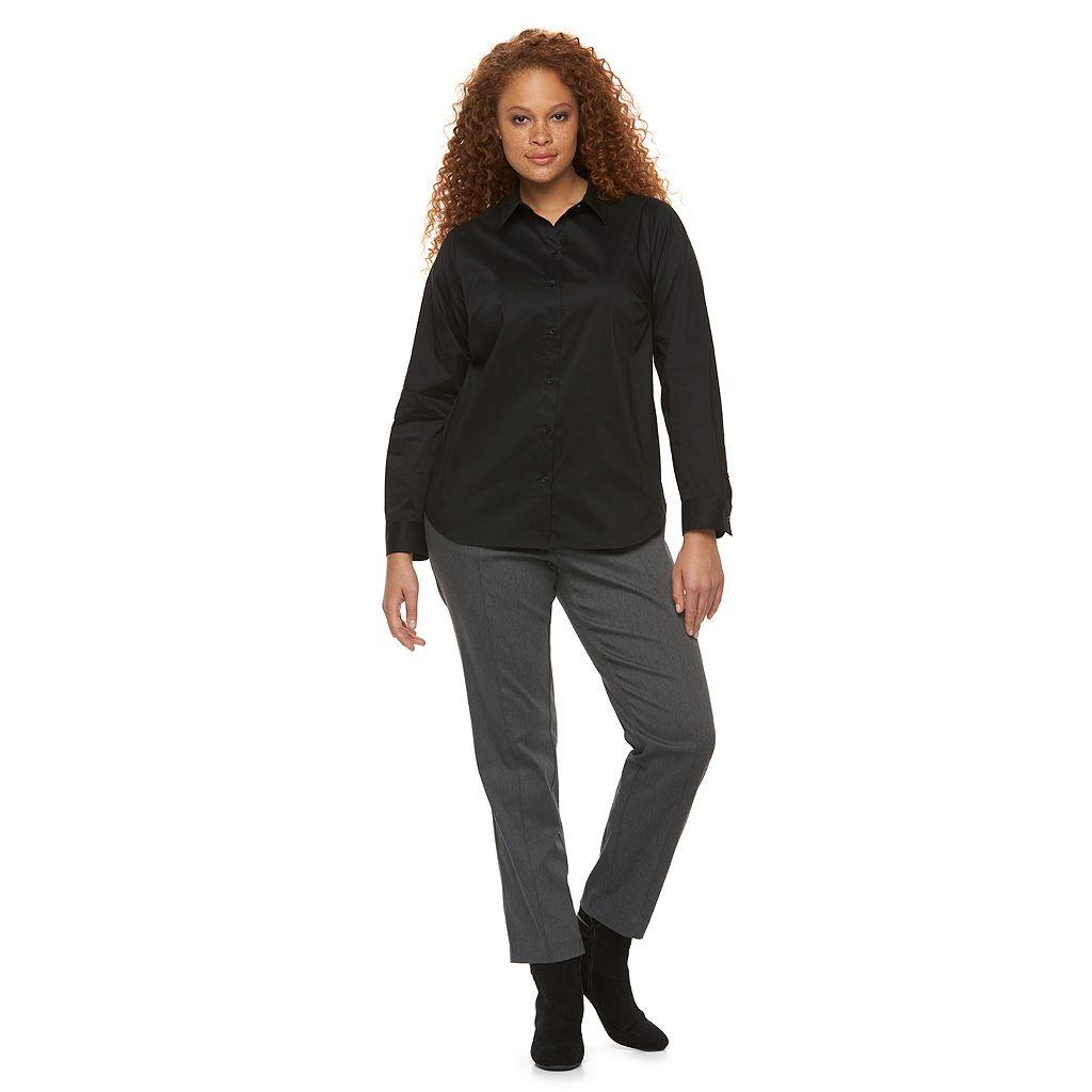 Plus Size Apt. 9® Structured Essential Button-Down Shirt