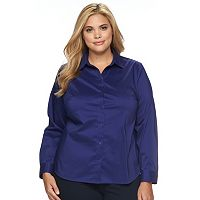 Plus Size Apt. 9® Structured Essential Button-Down Shirt