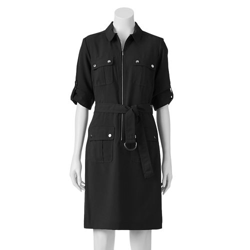 28599acb500 Sharagano Roll-Tab Shirtdress - Women s