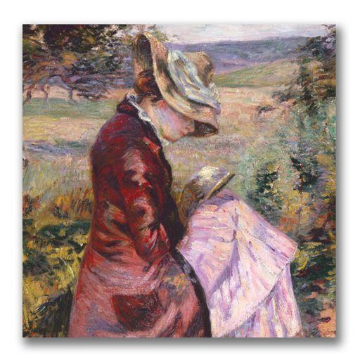Trademark Fine Art ''Madame Reading'' Canvas Wall Art