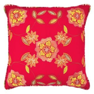 Waverly Charismatic Jacobean Embroidered Reversible Throw Pillow