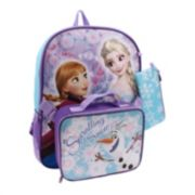 Disney's Frozen Anna, Elsa & Olaf Backpack & Lunch Bag with Bonus Pencil Case - Kids