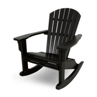POLYWOOD® Seashell Outdoor Rocking Adirondack Chair