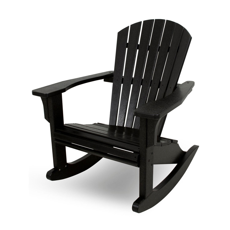 polywood seashell outdoor rocking adirondack chair