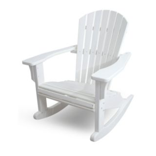 POLYWOOD® Seashell Outdoor Rocking Adirondack Chair
