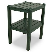 POLYWOOD® Outdoor Two-Shelf Side Table