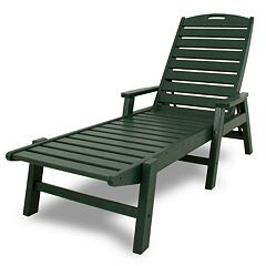 POLYWOOD® Nautical Outdoor Folding Chaise Lounge Chair