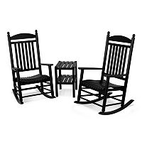 POLYWOOD® 3-piece Jefferson Outdoor Rocking Chair & Side Table Set