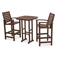 POLYWOOD® 3 pc Signature Outdoor Bar Chair & Table Set