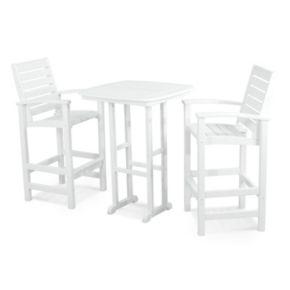 POLYWOOD® 3-piece Signature Outdoor Bar Chair & Table Set