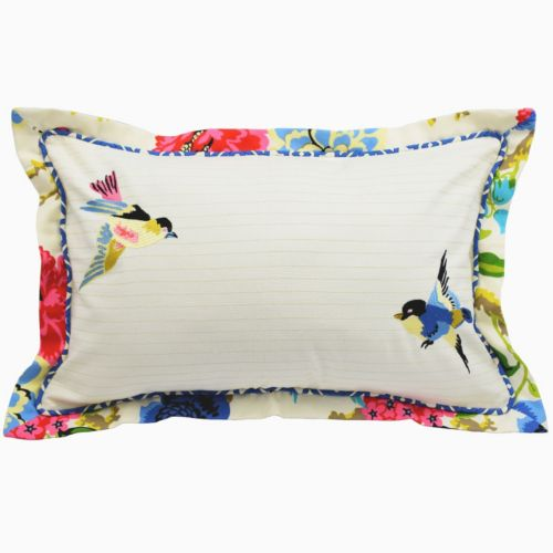 Waverly Charmed Embroidered Reversible Throw Pillow
