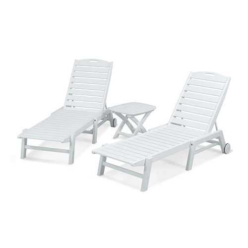 Cool Polywood 3 Piece Nautical Outdoor Folding Chaise Lounge Short Links Chair Design For Home Short Linksinfo