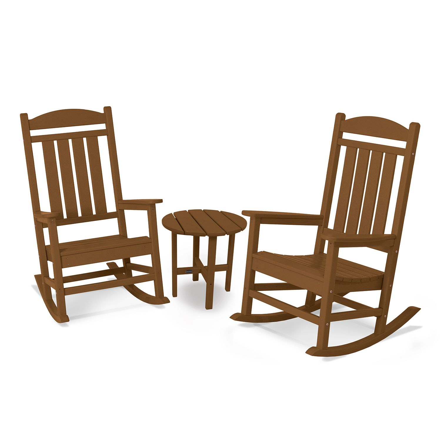 Ordinaire POLYWOOD® 3 Piece Presidential Outdoor Rocking Chair U0026 Round Side Table Set
