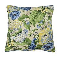 Waverly Floral Flourish Reversible Throw Pillow
