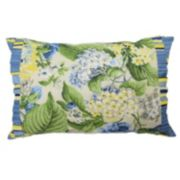 Waverly Floral Flourish Ruffled Reversible Throw Pillow