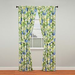 Waverly Floral Flourish Window Curtain Pair - 50'' x 84''