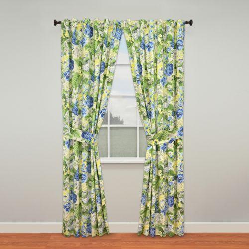Waverly Floral Flourish Curtain Pair - 50'' x 84''
