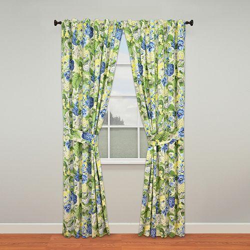 Waverly Floral Flourish Window Curtain Pair - 50'' x 84''