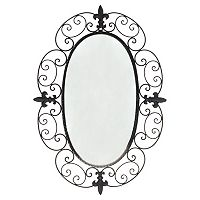 Black Scroll Wall Mirror