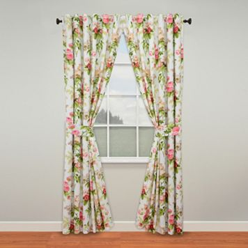 Waverly Emma's Garden Window Curtain Pair - 50'' x 84''