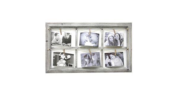 Fetco Home Decor Elan 6-Opening 4'' X 6'' Collage Frame