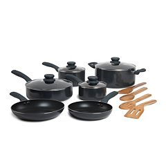 Basic Essentials 14 pc Nonstick Aluminum Cookware Set
