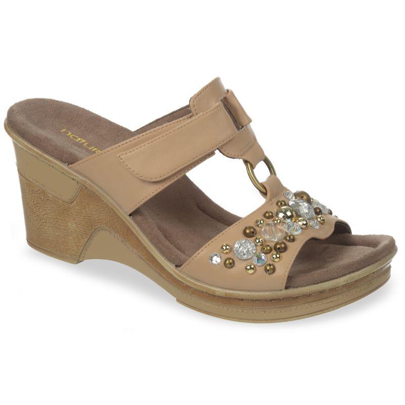 Unique Women NATURALIZER DELMA D3596S4020 SILVER GLITTER Strap Sandal Shoes