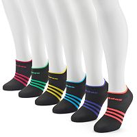 adidas climalite Superlite 6-pk. Striped Low-Cut Socks - Women