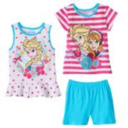 Disney's Frozen Anna & Elsa Glitter Top & Shorts Set - Girls 4-6x