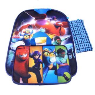 Disney's Big Hero 6 Backpack & Lunch Bag with Bonus Pencil Case - Kids