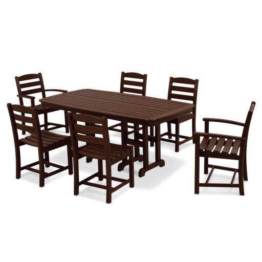 POLYWOOD® La Casa Cafe 7-piece Outdoor Dining Set