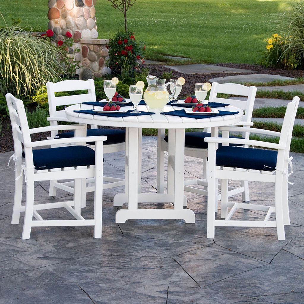 POLYWOOD® La Casa Cafe 5-piece Outdoor Arm Chair Dining Set