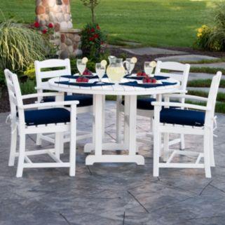 POLYWOOD® La Casa Cafe 5-piece Outdoor Arm Chair Dining Set