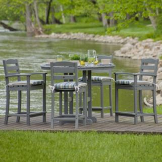 POLYWOOD® La Casa Cafe 5-piece Outdoor Counter Height Dining Set