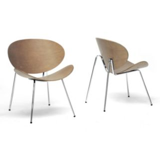Baxton Studio 2-Piece Reaves Modern Accent Chair Set
