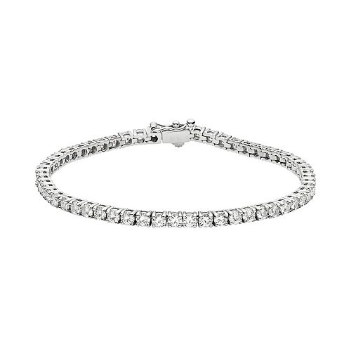 Forever Brilliant 5 1/3 Carat T.W. Lab-Created Moissanite 14k White Gold Tennis Bracelet