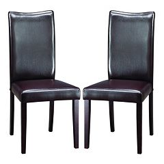 Baxton Studio Berreman 2-Piece Modern Dining Chair Set by