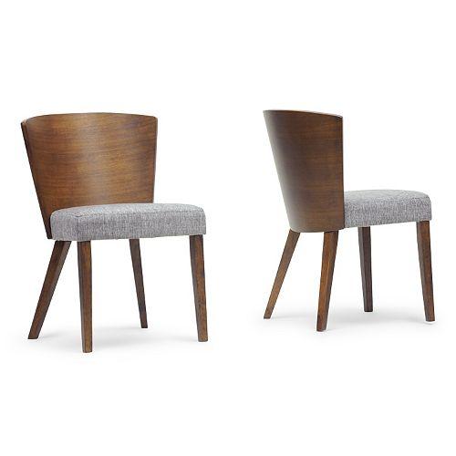 Baxton Studio Sparrow 2-Piece Wood Modern Dining Chair Set
