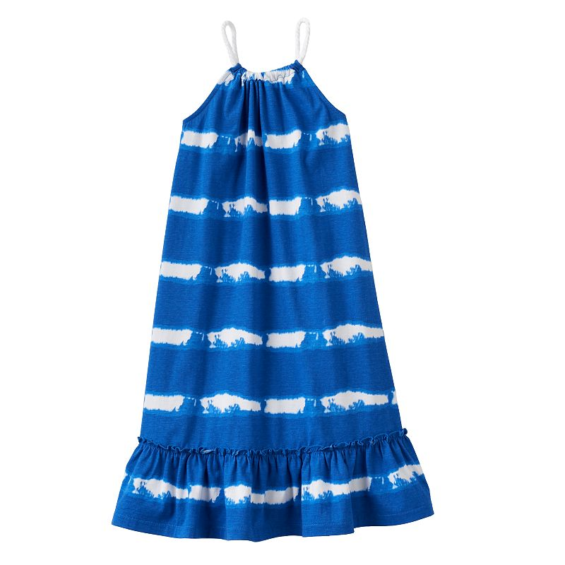 Toddler Girl Chaps Striped Ruffle Dress